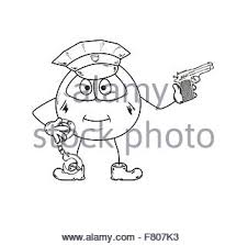illustration of a police officer policeman with hand signal stop