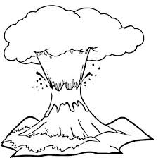 coloring pages volcano volcano eruption coloring page free printable coloring pages