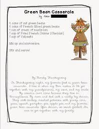 thanksgiving dinner worksheet once upon a creative classroom a thanksgiving class recipe book
