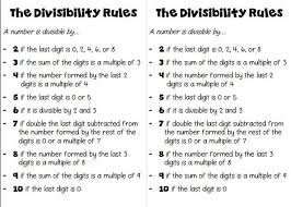 the 25 best divisibility rules ideas on pinterest division