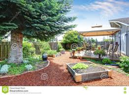 The Backyard Small Garden Beds At The Backyard Stock Photo Image 77288204