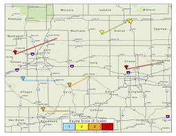 Map Of Ohio And Michigan by Track Michigan U0027s 12 Tornadoes From The 1965 Palm Sunday Outbreak