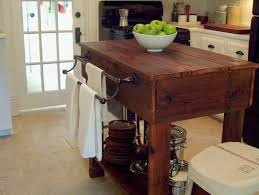 island rustic kitchen island cart