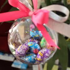 clear plastic fillable ornaments favor crafts