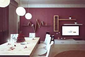 purple dining room idea with diy wall shelves attractive wall