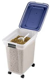 Dry Food Containers Storage 45 Litre Airtight Clear Plastic Storage Food Dry Pet Catering Bin