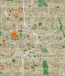 Atlanta Street Map Mapa De Atlanta Jpg
