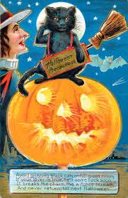 halloween postcards clipart