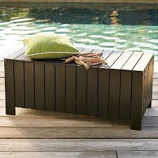 Wood Bench With Storage Plans by Outdoor Bench Storage Treenovation