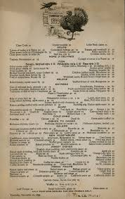 thanksgiving dinner at the plaza hotel 1899 ephemeral new york