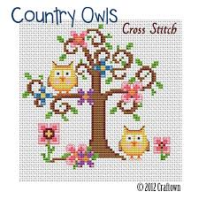 free cross stitch pattern country owls