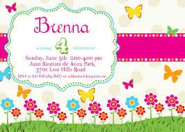 Birthday Invitations Card Butterfly Birthday Invitations Kawaiitheo Com