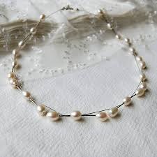 freshwater pearls necklace images Freshwater pearl and wire necklace by highland angel jpg