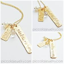 Gold Chain With Name Mother U0027s Family Charm Jewellery With Twins Names Birth Date