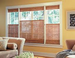 Blinds Up Top Down Bottom Up Woven Wood Shades Let You Preserve Privacy And