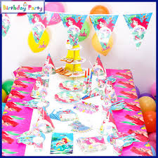 in party supplies 84pcs children s birthday party supplies mermaid ariel party