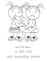 kid color pages a sick day cool hand washing coloring pages for