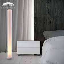 Cylinder Floor Lamps Tube Tall Aluminium And Beige Cylinder Floor Lamp 150cm 5ft Height