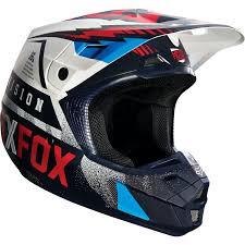 thh motocross helmet fox v2 motocross helmet vicious blue white 2016 mxweiss
