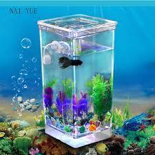 new goldfish filter tank self cleaning small desktop fish tank