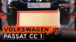 návod jak vyměnit vzduchový filtr motoru na vw passat cc 1 youtube