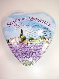 Parfum De Provence Boite Métal Savon Forme Coeur Theme Savon De Marseille Parfum De