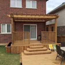 Guy Home Decor Decks In Hamilton Ontario The Fence Guy Backyard Wood Deck With