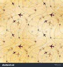 Airline Routes Map by Airline Routes Map On Old Textured Stock Vector 487065643
