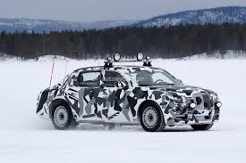 rolls royce racing camouflaged luxury sedan spied in snowy sweden looks like rolls