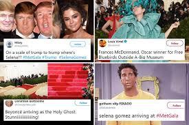 Selena Gomez Meme - met gala 2018 memes from selena gomez s donald trump tan to