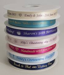 printed ribbons the radiant ribbon co personalised printed ribbon for any occasion