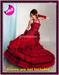 2013 black and red vintage ball gown gothic wedding dresses halter