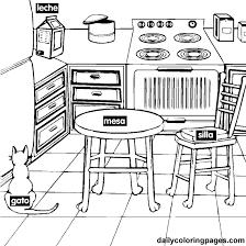 coloriage cuisine cuisine 7 bâtiments et architecture coloriages à imprimer