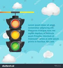 traffic light sky background template stock vector 598372046