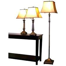 End Table Lamp Combo Floor Lamp Attached End Table Mid Century Modern Wooden Tiered