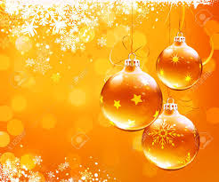 illustration of orange christmas abstract background with cool