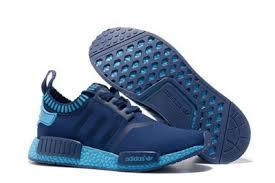 adidas nmd light blue adidas originals nmd runner primeknit sneakers navy blue light blue
