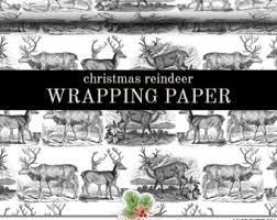 black and white christmas wrapping paper christmas wrapping paper roll vintage