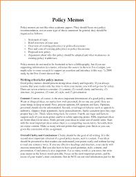policy memo samples
