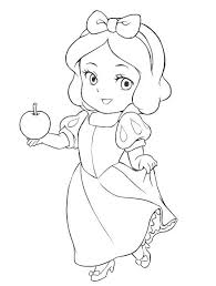 cute coloring pages baby snow white coloring pages hermesboard
