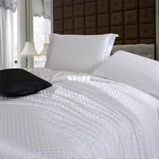 White Silk Bedding Sets White Bedding Sets Brief Solid Color Silk Satin Bed In A Bag