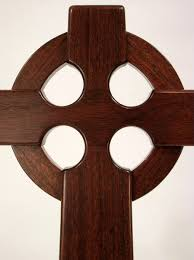 wooden celtic cross large celtic cross wall hanging mahogany wood for church or