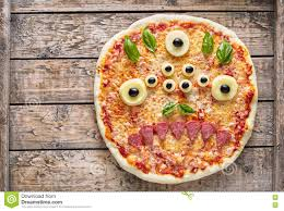 halloween creative scary food eye monster zombie face pizza snack