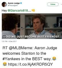 Did We Just Become Best Friends Meme - aaron judge follow hey gif did we just become best friends 131 pm