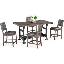 newcastle counter height table newcastle counter height dining table and 4 side chairs gray