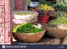 fruit and vegetable basket fruit veg in baskets sale stock photos fruit veg in baskets sale