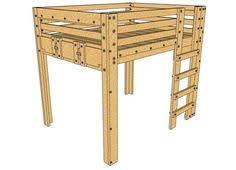 plans to build full size loft bed plans free pdf download full