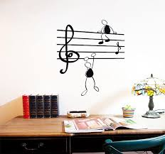 Music Note Decor D216 Removable Wall Sticker Home Decor Sticker Music Notes Funny