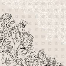 paisley background indian ornament vector clipart