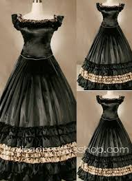 cheap gothic victorian superb ruffled black long simple but noble